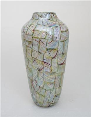 Tall Rainbow Mosaic Vase